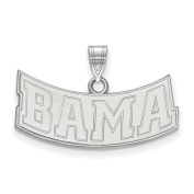 Solid 14k White Gold University of Alabama Small Pendant