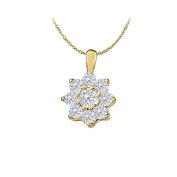 LoveBrightJewelry CZs Fashion Pendant in 14K Yellow Gold 1.00 CT TGWPerfect Jewellery Gift for Women