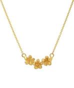 14 Karat Yellow Gold Plumeria Necklace, 46cm
