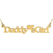 14kt Yellow Daddy's Girl Pendant with 15 Chain