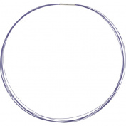 Stainless Steel/Purple-Coated 7-Strand Cable 41cm Chain with 14K White Gold Clasp