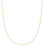 14k 0.9mm Italian Cable Chain Necklace