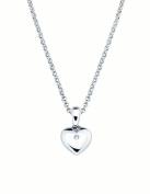Little Diva Diamonds 925 Sterling Silver Diamond Accent Heart Shaped Pendant w/ Chain for Girls