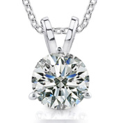 0.50 Ct Size Ladies Round Cut Cubic Zirconia Soitaire Pendant Necklace In Martini Setting
