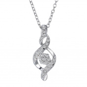 Fashion Women Jewellery White Gold Diamond Infinity Pendant Chain Necklace
