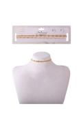 Womens Thin 4 Lines Simple Chain Fashion Casual Choker NCS-30009GS