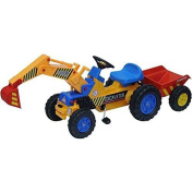 XXL Children Pedal Car Construction Vehicle Excavator with Shovel and Pendant For Break in for Children from . old