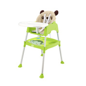 Smibie Baby High chair 3 in 1 Multi-use Feeding chair Booster seat Infant chair Dining chair with tray-Green