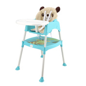 Smibie Baby High chair 3 in 1 Multi-use Feeding chair Booster seat Infant chair Dining chair with tray-Blue