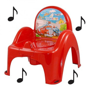 Toilet Pot Musical Baby Chair with Red Car Design Cars