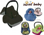 Sweet Baby Soft Blanket Autumn/Winter 3 and 5-Point Seatbelt System Universal for Baby Seat/Car Seat e.g. for Maxi Cosi/Römer, Pram, Buggy or Baby Bed – -GREY/BLACK – -