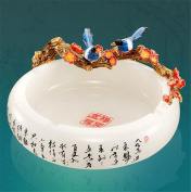 Longless Enamelled ashtray glass crafts ornaments living room decoration to send leadership high-end practical gifts business gifts creative gifts