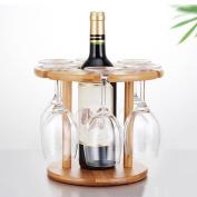 LIXIONG Wine rack Bottles Holder Bamboo wood Rack upside down goblet Household Display Shelves