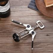 Manual Can Opener,All-in-one Corkscrew Bottle Opener Stopper Opener Knob Anti-slip Deluxe Wine Best Utensils