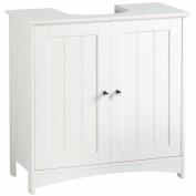 YAKOE Under Sink Bathroom Cabinet Basin Storage Unit, Wood, White, 48 x 29 x 60 cm