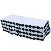 Sugar Q 100% Cotton Black & White Pattern Pleated Crib Bed Skirt, Baby Nursery Toddler Bedding, Boys/Girls 41cm Drop