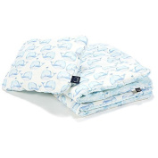Sevira Kids - Comforter and pillow child 2 in 1 ready to sleep 100x135 - Different coloured - Whale Moby, Duvet 100x135,Pillow 60x40