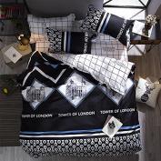 Ustide London Tower Design Bedding Duvet Cover Set, Double