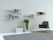 VE.ca-italy Shelf Books Decor of in Wood design of High Quality Made In Italy In 9 Different Colours, 2 cm Thickness White Larch
