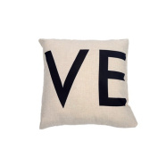 Ruikey Pillow Love Cases Solid Stripe Sofa Waist Car Cushion Love Covers for Home Decoration ,44 × 44 cm