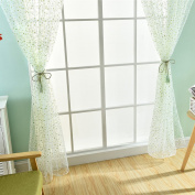 Yosemite Lovely Daisy Flowers Offset Printing Rod Pocket Bedroom Curtain
