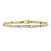 Carissima Gold 9 ct Yellow Gold 0.10 ct Diamond and Knot Bracelet