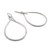 Large Twisted Hoop 925 Silver Circle Drop Earrings