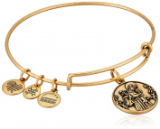 Alex and Ani St. Anthony Expandable Charm Bracelet, Rafaelian Gold-Tone