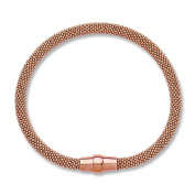 9ct Rose Gold Plated over Sterling Silver Mesh Bracelet with Magnetic Clasp