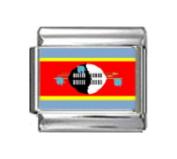 SWAZILAND FLAG Photo Italian Charm 9mm - 1 x PC168 Single Bracelet Link