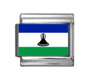 LESOTHO BASOTHO FLAG Photo Italian Charm 9mm - 1 x PC099 Single Bracelet Link