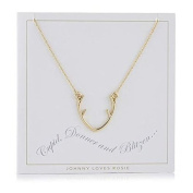 Johnny Loves Rosie Antler Gift Card Women Chain Necklace of Length 48cm 5055632017907