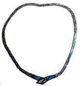 Samira – Caribbean Silver Opal Necklace Blue Sea
