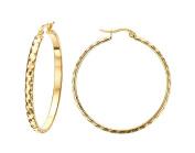 Jiedeng Jewellery Women Earring Set Hoop Earrings Stainless Steel Earring with Round classic Hoop Earrings Set Anniversary Wedding big Hoop Earrings for Women Ladies Gold