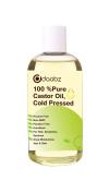 Daabz 100% Pure Castor Oil. Hexane Free, Cold Pressed, Non-GMO for Hair, Eyelashes & Brow Growth. Repair Hair, Moisturise Skin & Lips 100 ml