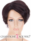 Chantiche Dark Burgundy Wig Short,Natural Looking Straight Synthetic Wigs for Women Wine Red Side Part Full Machine Made Fibre Hair