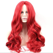 70cm Wavy Red Colour Full Head Synthetic Hair Wigs Anime Costume Cosplay Wig for Women Ladies Girls