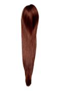 Scrunchy Scrunchie Bun Updo Hairpiece Brown 57 cm for Short Hair Clips for Women Girls Carnival Queen
