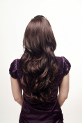 WIG ME UP ® - Hairpiece extension Halfwig 2 combs mahogany brown mix wavy 60cm H9310-2T33