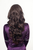 WIG ME UP ® - Hairpiece extension Halfwig 2 combs mahogany brown mix curled H9307-2T33