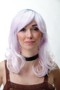 WIG ME UP ® - Wig Curls White Pink Grey YZF-7325-1001
