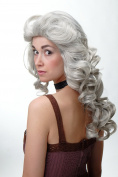 WIG ME UP ® - Wig 80s Soap Diva Voluminous long teased Grey WL-3010-51