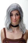 WIG ME UP ® - Wig Wild Parting Shoulder Length Grey Blue Mix
