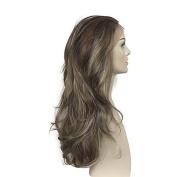 MZP Women Lace Front Wig Synthetic Wig Heat Resistant Deep Wavy Women Costume Wigs , light blonde