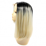 MZP Ombre T1B/27 Bob Synthetic Lace Front Wigs Straight Hair Heat Resistant Fibre Hair Wig for Woman