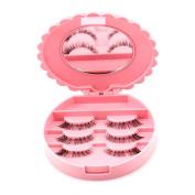 Profusion Circle False Eyelashes Storage Case Makeup Compact Mirror