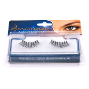 False Eyelashes Extension 100% Human Hair 3D Natural Fake Eyelashes Soft with Invisible Band Long and Thick Lashes for Dramatic Makeup or Daily Use