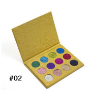 MeineBeauty Imagic 12 Colour Highly Pigmented Diamond Glitter Eye Shadow Palette Flash Shimmer Eyeshadow Make Up Palette
