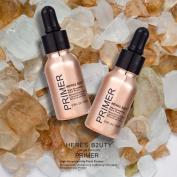 HERES B2UTY Blurring illuminate 24K Gold Foil Fluid Gel Primer even Skintone blurs pores fine lines smoothed Brighten Highlight