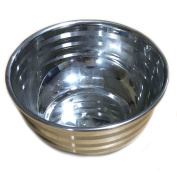 Stainless Steel Bowl With Strip Design Serving Bowls,Soup Bowl,Cereal Bowl, Steel Mixing Bowls For Kitchen, Steel Bowls For Kitchen Cooking, Fruit Bowls Silver Colour Size 10cm X 10cm